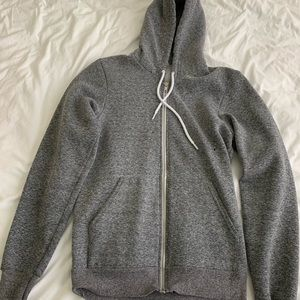 American Apparel Salt & Pepper Grey ZIP Up Hoodie
